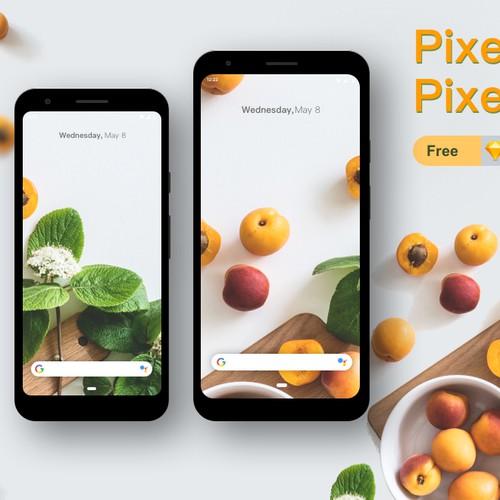 Pixel 3a Mockup