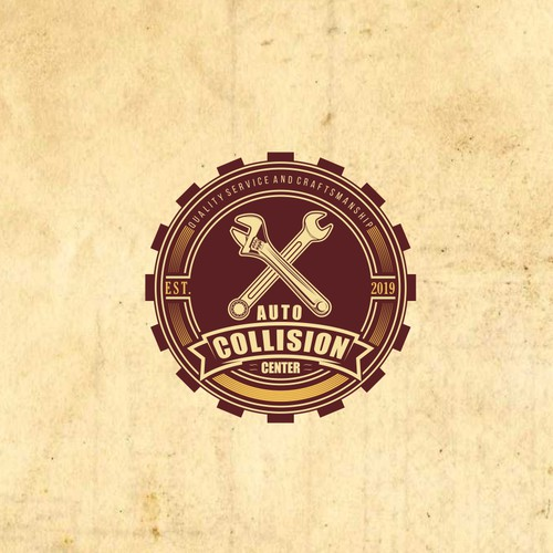 Auto Collision Center needs a classy classic style logo that still grabs attention today.