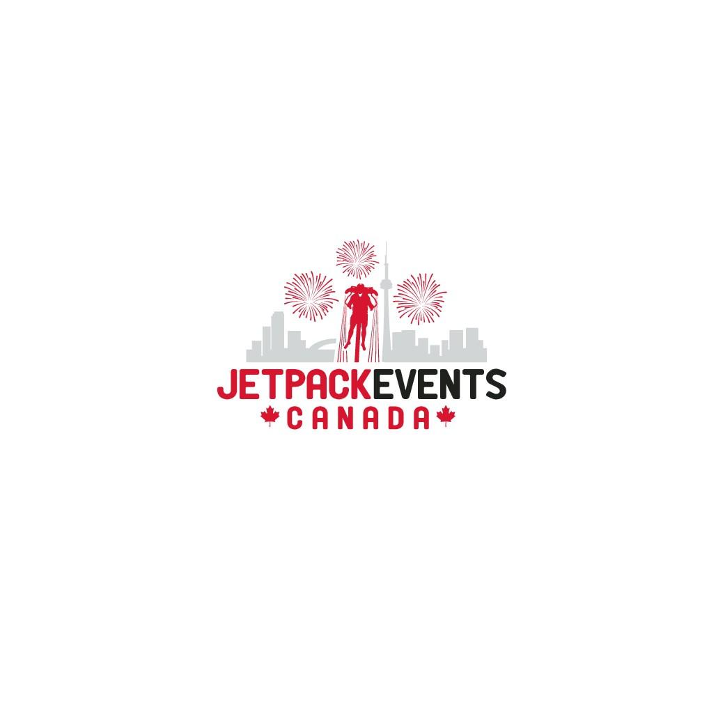 Jetpack/Fireworks/Canada inspired creative logo
