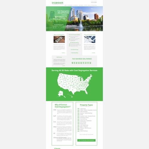 Commercial Real Estate Services Website - Cost Segregation