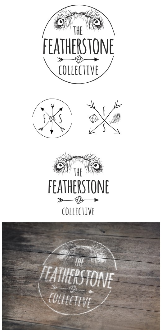 ↢ ☽ Logo for a designer jewellery company - handmade gypsy, boho, tribal gems ☾ ↣