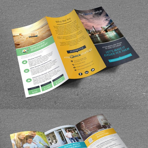 Tri-Fold Brochure for MyQuickStartup (NYC)