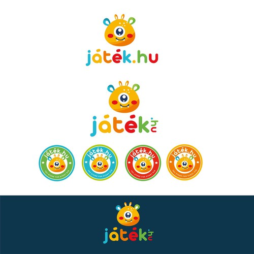 Colorful and playful logo for the toy store