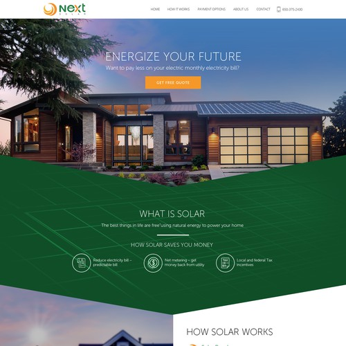 Wordpress Solar Energy Website