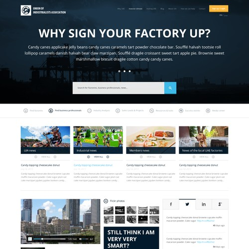 "$3000 GUARANTEED !! ****** Just a ""homepage"" design for the Industrialists Association"
