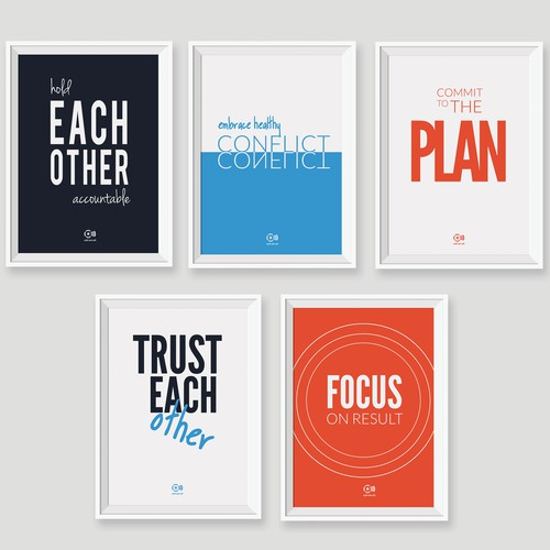 Create 5 Creative and Unique Posters For Our Office