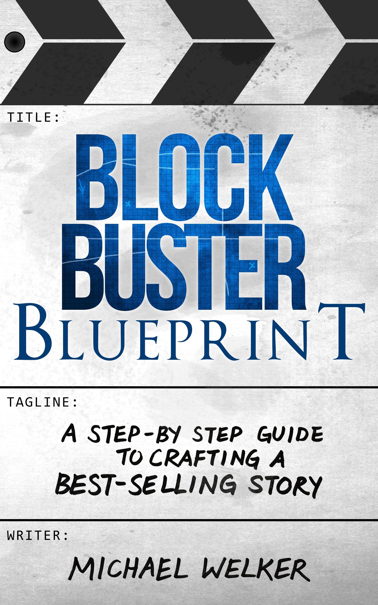 Design an eye-catching non-fiction book cover for Blockbuster Blueprint!