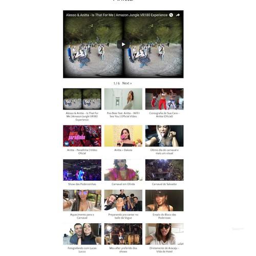 Video Based Website Design