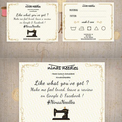 Postcard concept for fashion company