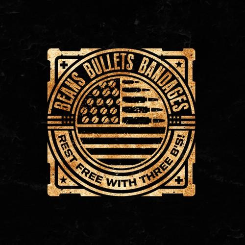 Beans Bullets Bandages Logo Design