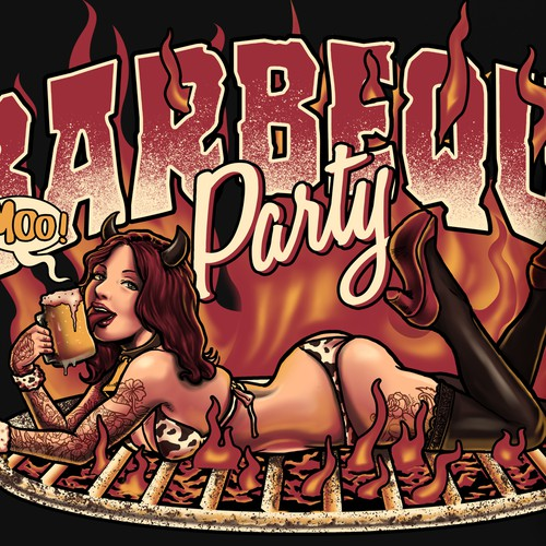 Barbeque Party pinup girl