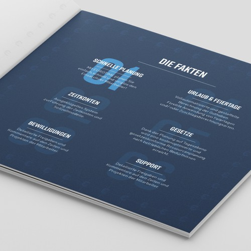 Company software overview - square brochure layout