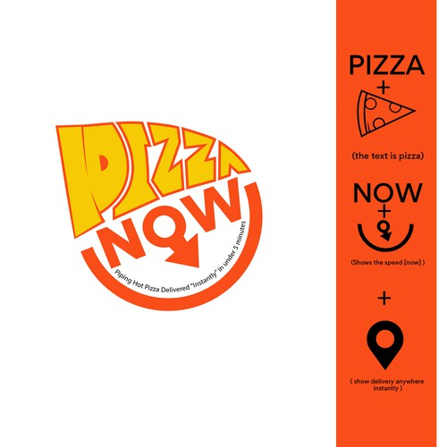 Concept Logo for Pizza Now