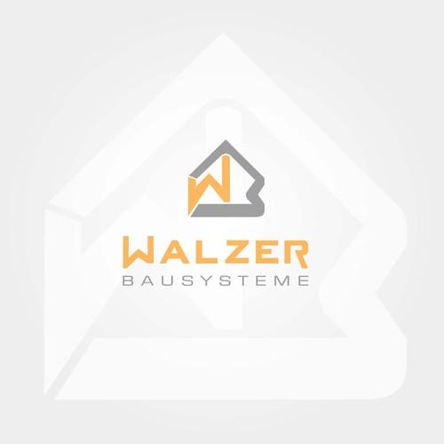 Logoentwurf für Fertigbauteile im Gebäude Bau.