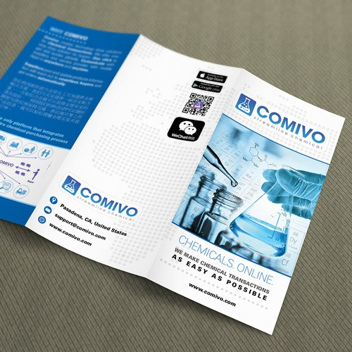 Modern brochure for company in medical transactions