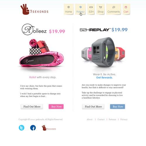 Homepage  Re-design for 3sekonds.com
