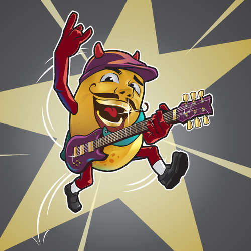 mascot character Mr. Potato in RockStar