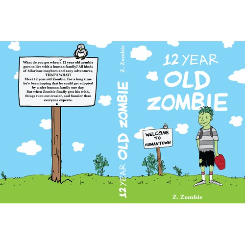 """Children's Book Cover """"12 YEAR OLD ZOMBIE"""""""