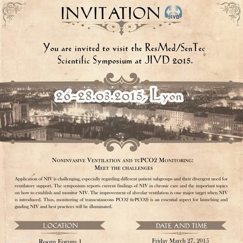 Invitation-Flyer for Scientific Symposia (medical)