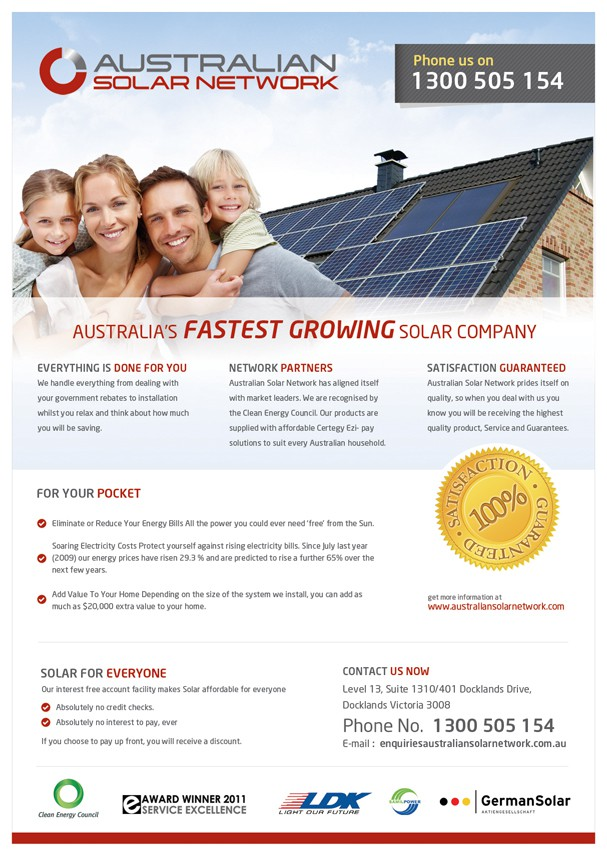Australian Solar Network needs a new print or packaging design