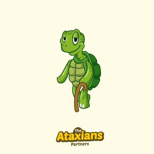 old turtoise mascot design