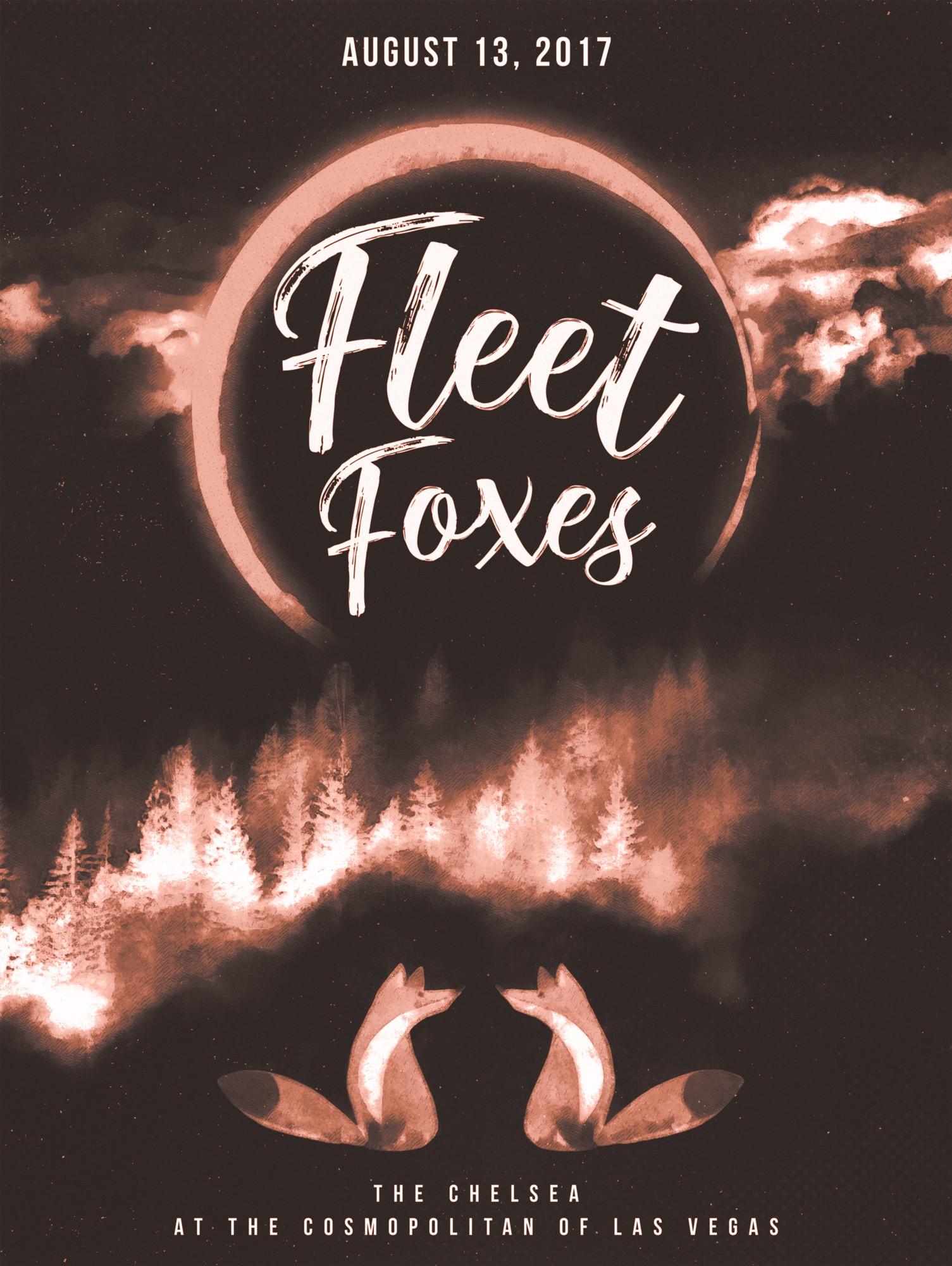 Design Concert Posters for Screen Print - Fleet Foxes @ The Cosmopolitan of Las Vegas