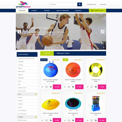 Design for a sport goods E-commerce