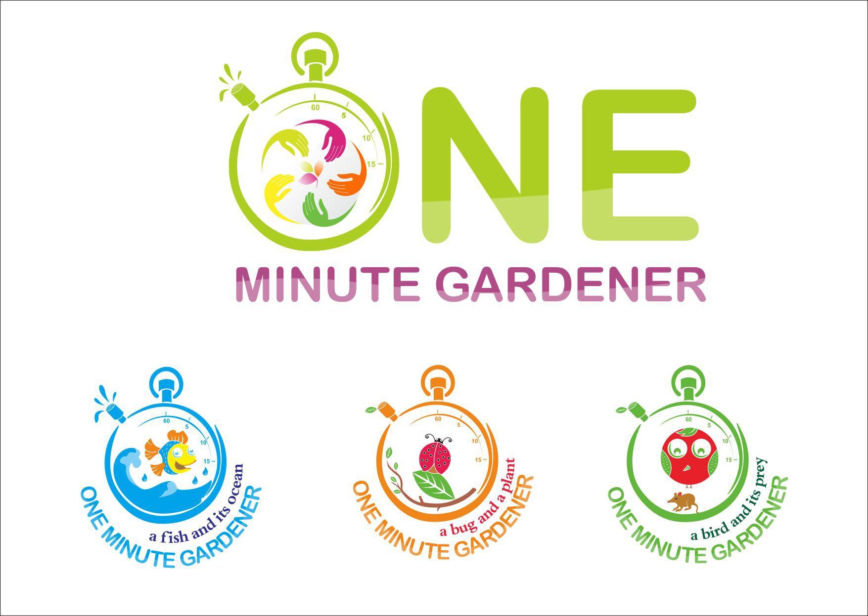 logo for One Minute Gardener