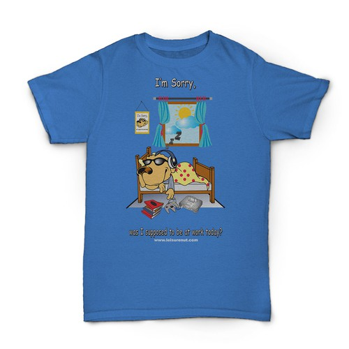 Need a fun new design to our existing line of fun, leisure themedt-shirts.