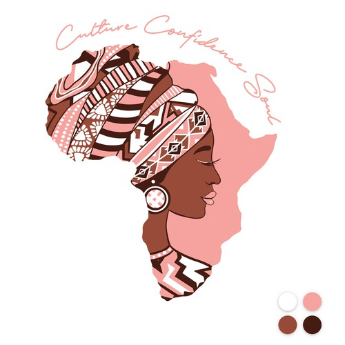 Africa inspired illustration for t-shirts