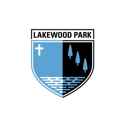 Crest Shape Logo for Lakewood Park Christian School