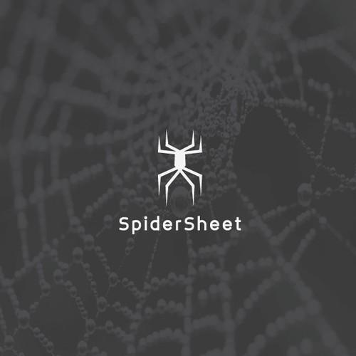 Minimalist spider logo