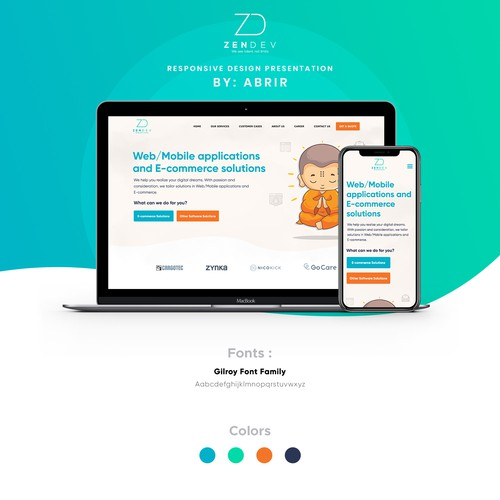 "Creative Design For ""Zen"" Software Development Firm"