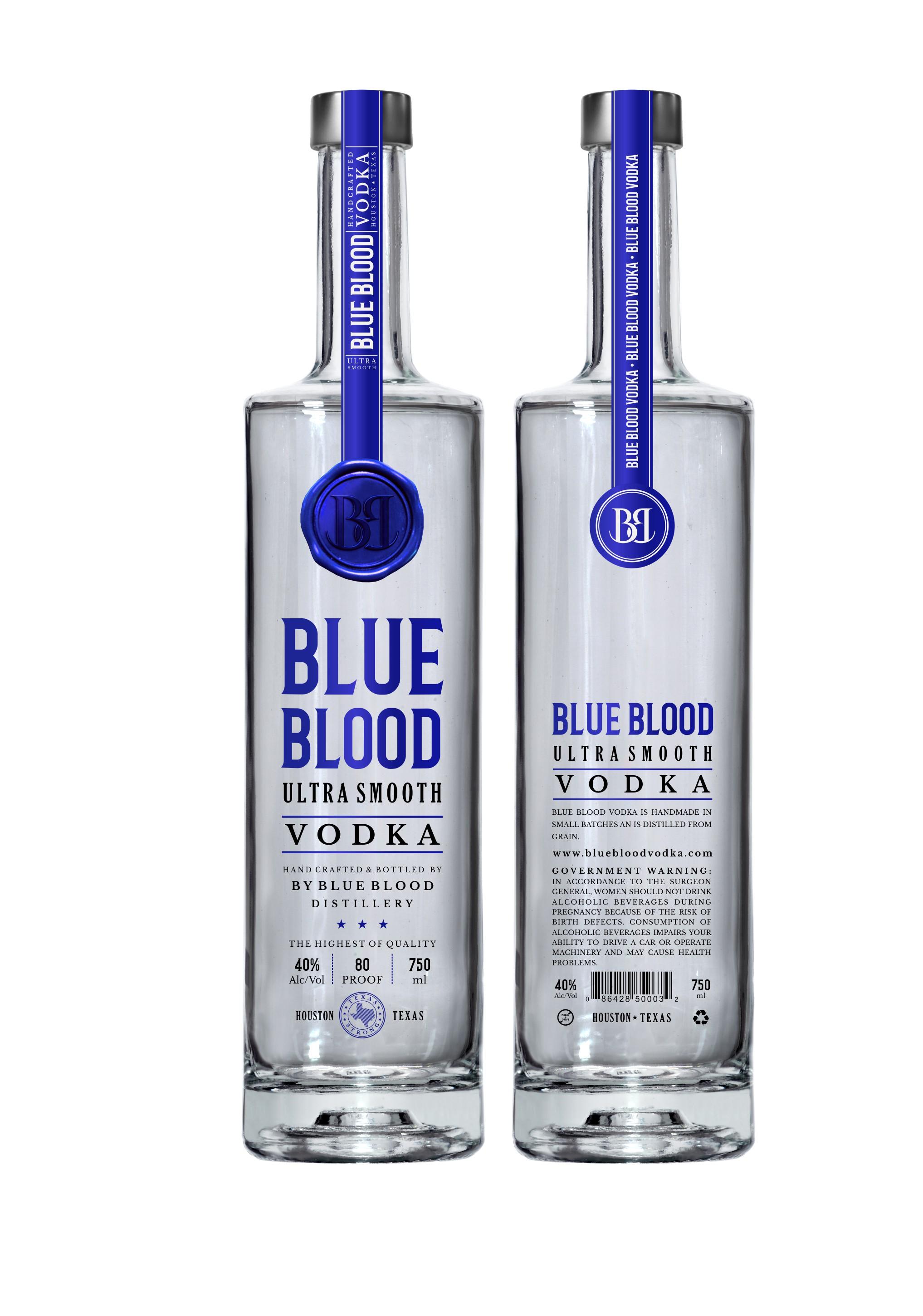 Aristocratic Label for Blue Bood Vodka