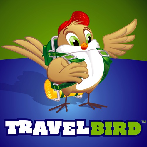 Logo design for travel site, including a graphical 3D animation