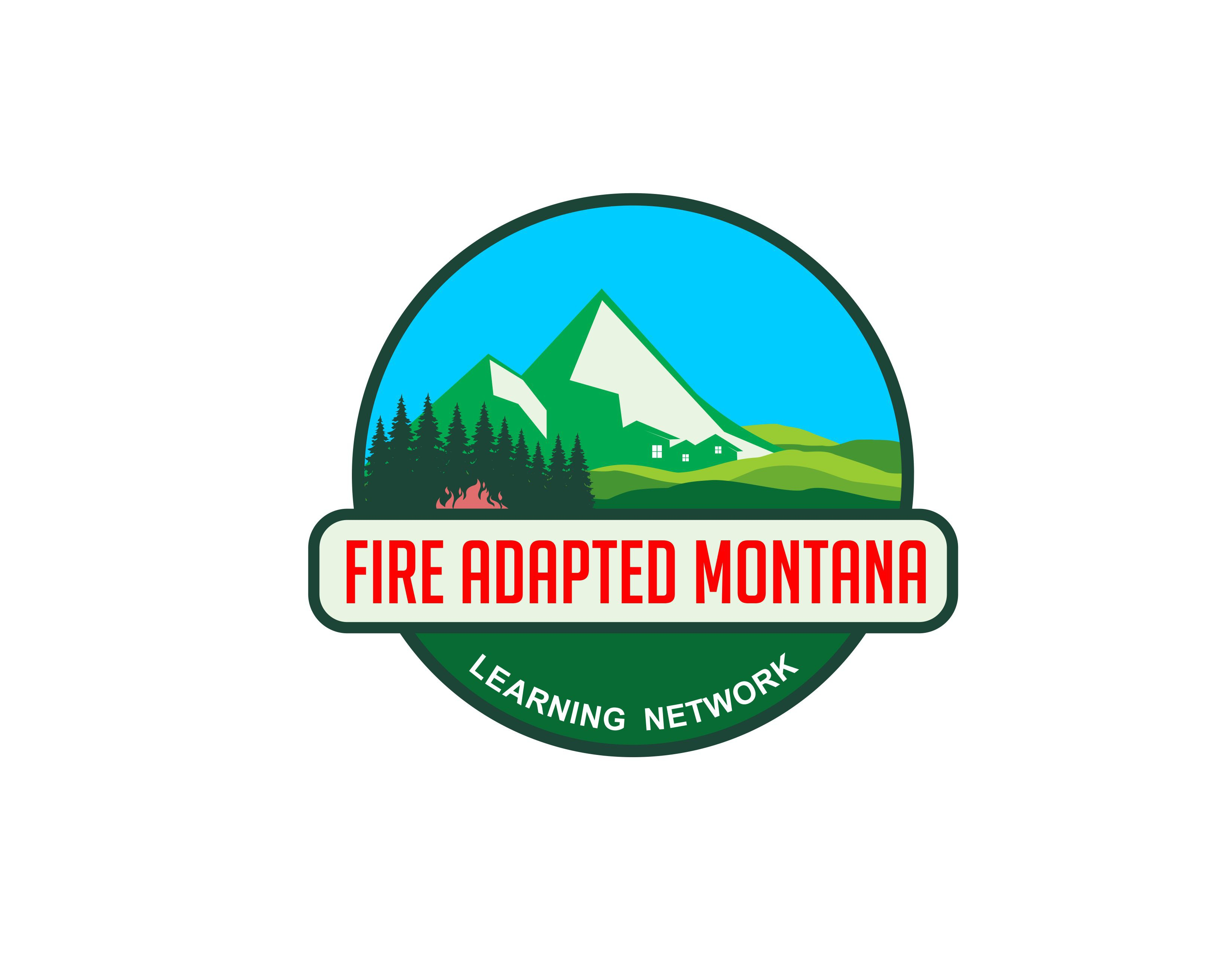 Craft an inviting logo for a Montana learning network