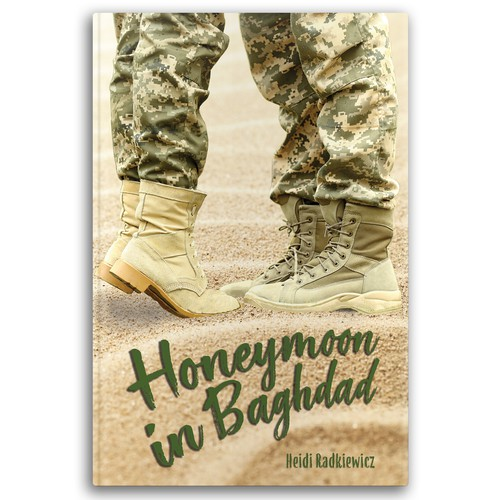 Sweet cover proposal for a book about a young couple in the National Guard