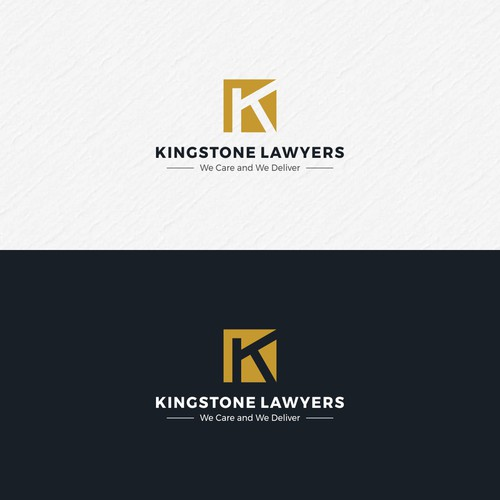 Logo concept for Kingstone Lawyers.