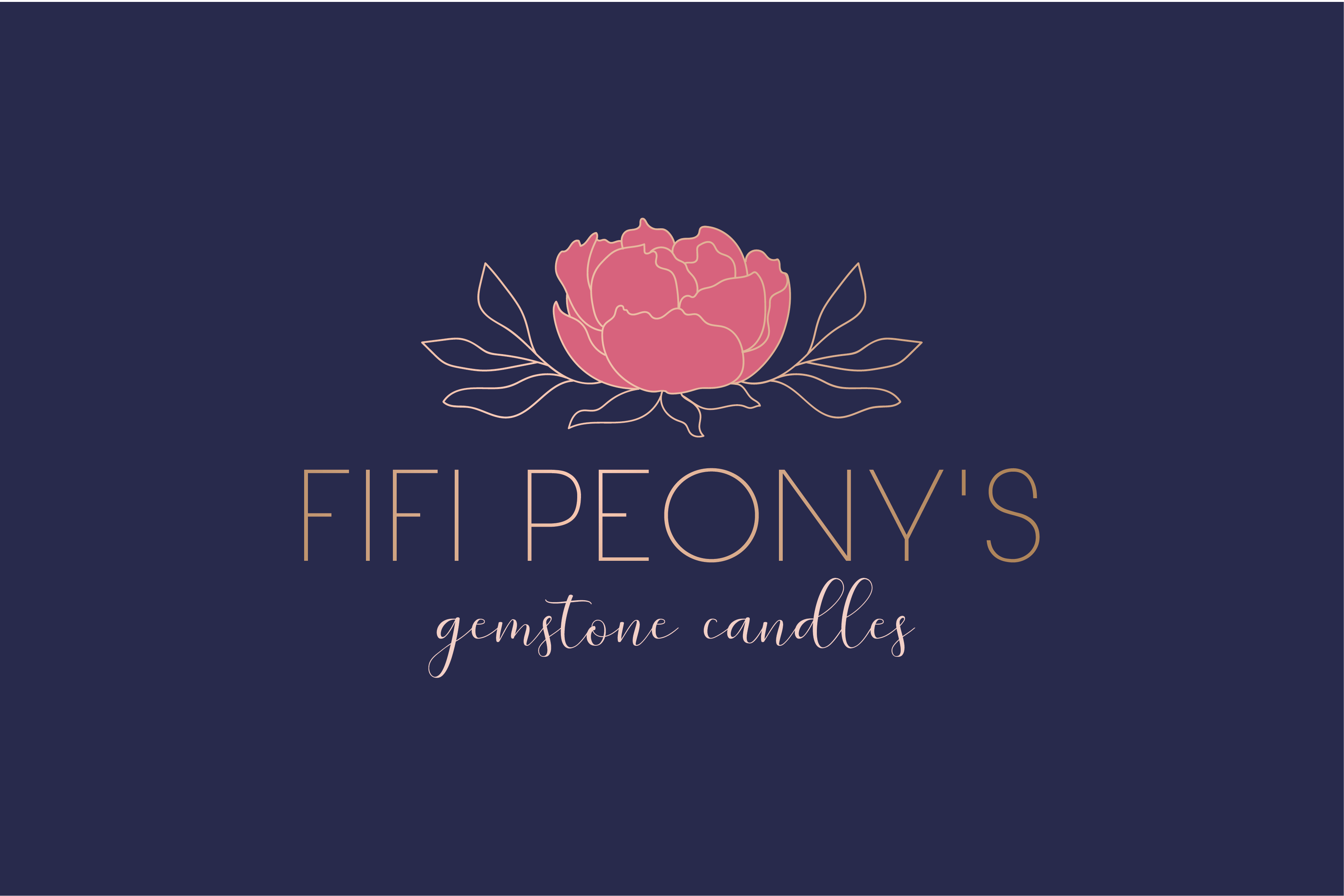 Beautiful feminine logo for luxury candles that appeal to women