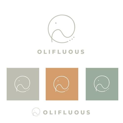 Olifluous Logo - Abstract Elephant
