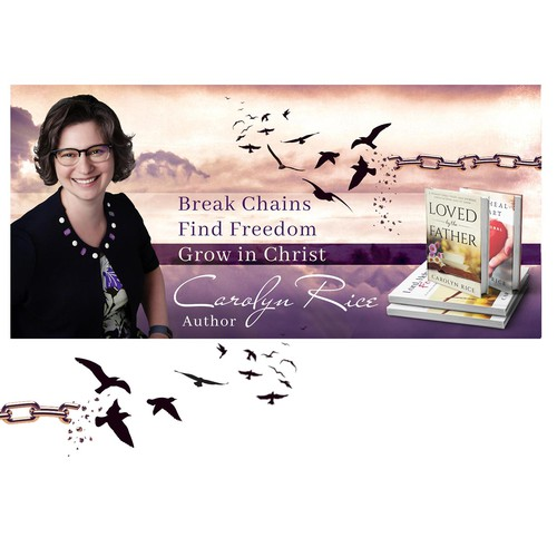 Web banner for a book author