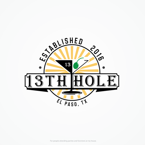 Logo Design concept for 13th Hole