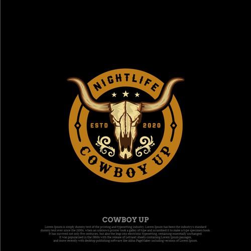 COWBOY UP NIGHTLIFE LOGO