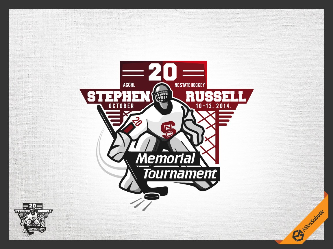 Create a Hockey Tournament Logo for the Stephen Russell Memorial Tournament