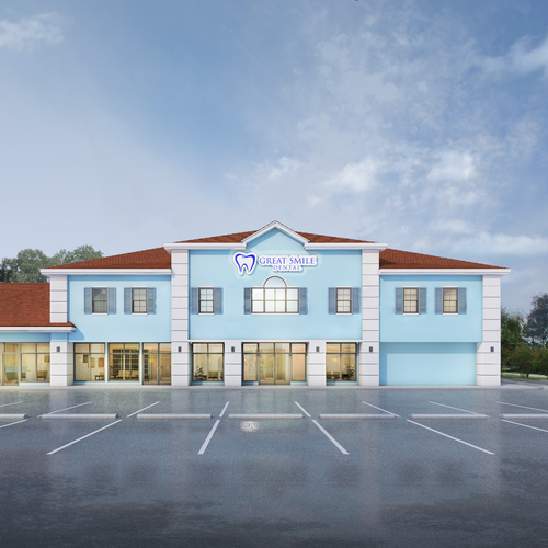 Exterior visualization of existing building