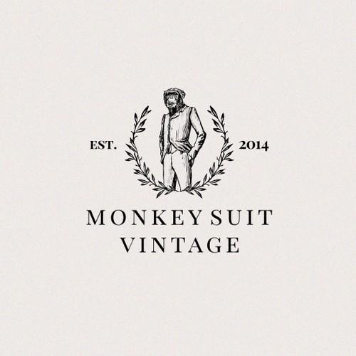 Partner with an established vintage suiting co in creating modern vintage monkey logo design
