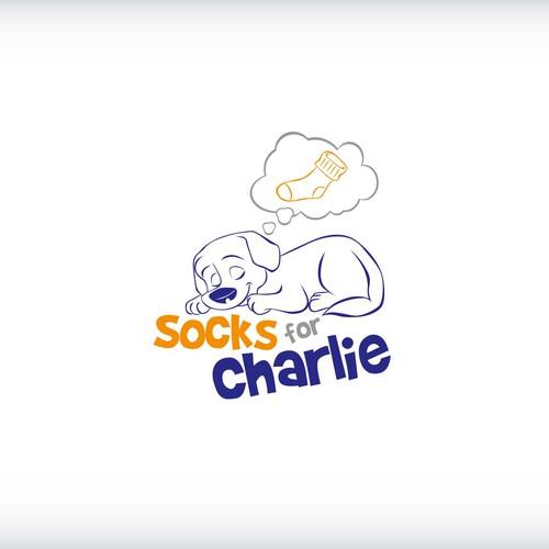 create a logo for pet care services - socks for charlie, socksforcharlie.com