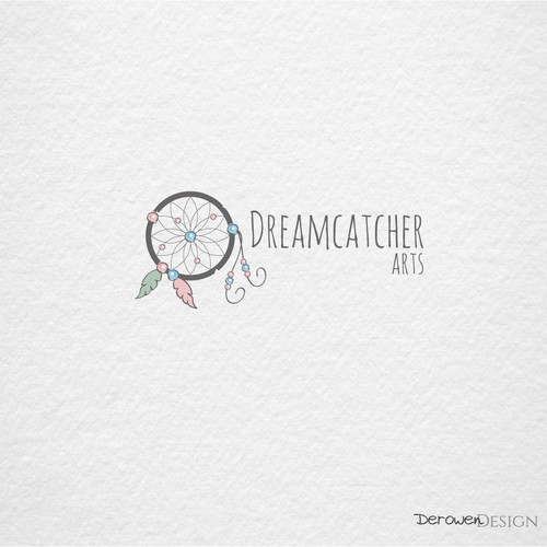 Dreamcatcher in pastel colors.
