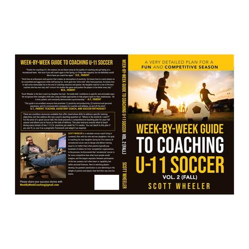 Book Cover Design for a Soccer Coach