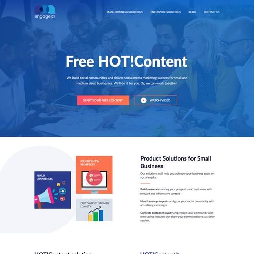 Homepage Design for Social Media Marketing Agency